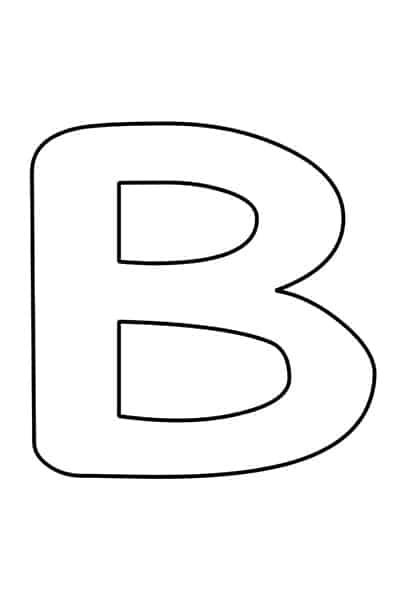 Bubble letters alphabet - bubble letter B
