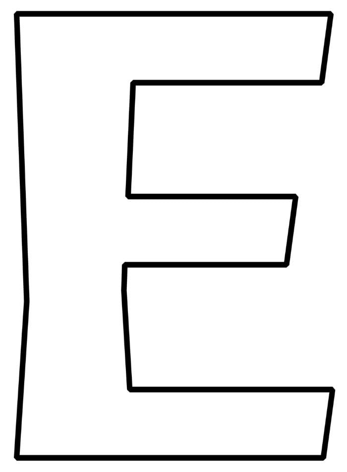 Free Printable Bubble Letter E