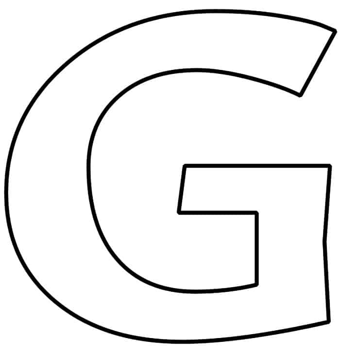 Free Printable Bubble Letter G