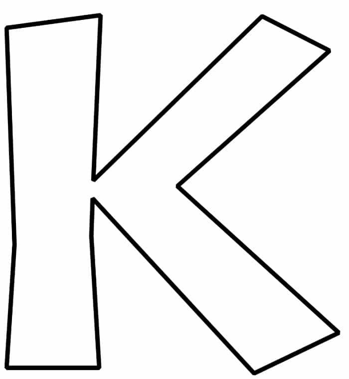 Free Printable Bubble Letter K