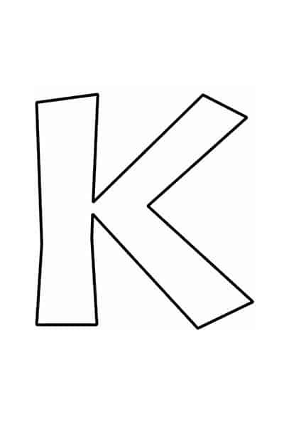 Bubble letters alphabet - bubble letter K