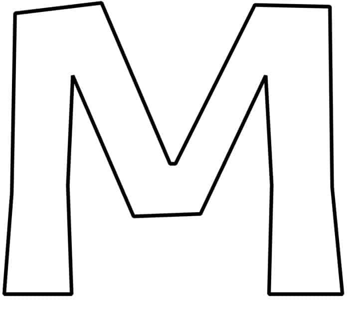 Free Printable Bubble Letter M