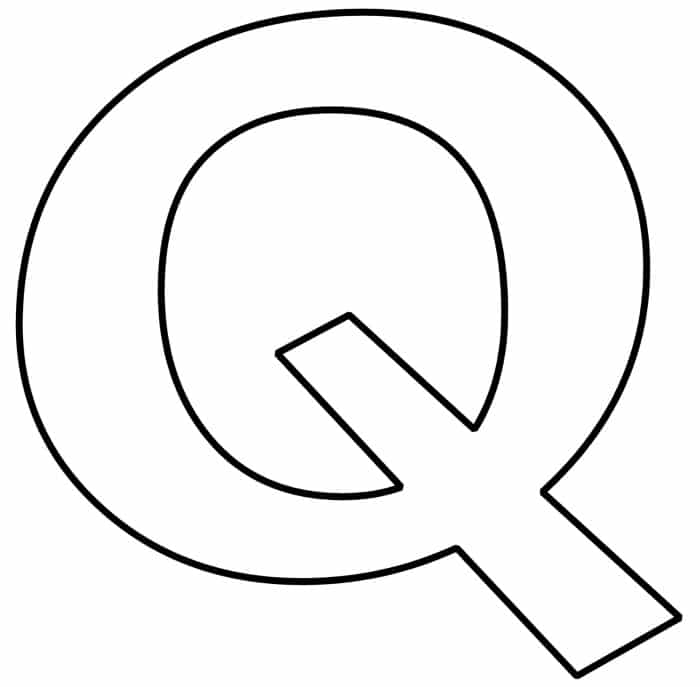 Free Printable Bubble Letter Q