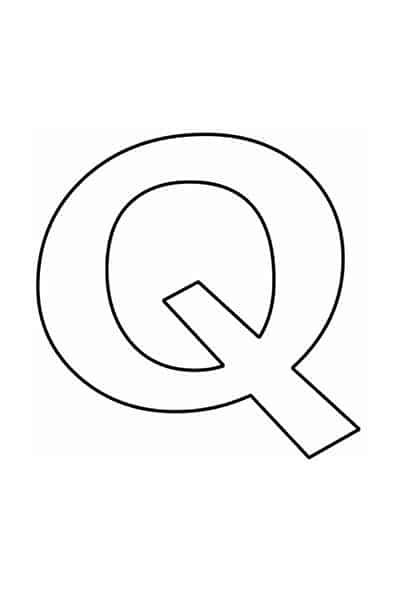 Bubble letters alphabet - bubble letter Q