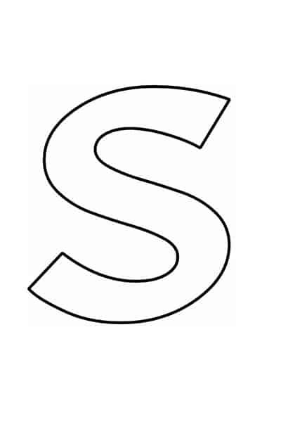 Bubble letters alphabet - bubble letter S