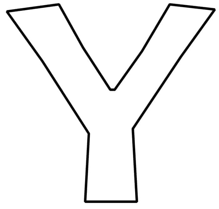 Free Printable Bubble Letter Y