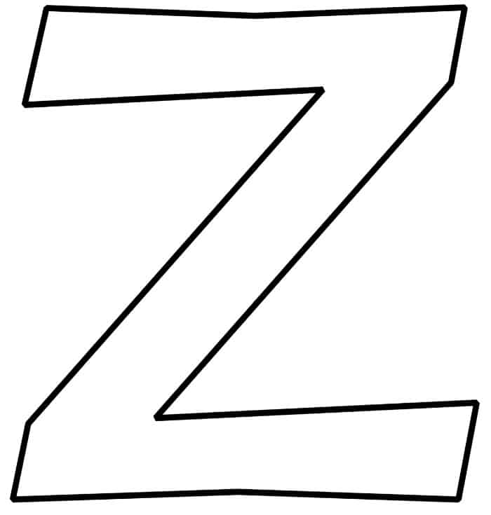 Free Printable Bubble Letter Z