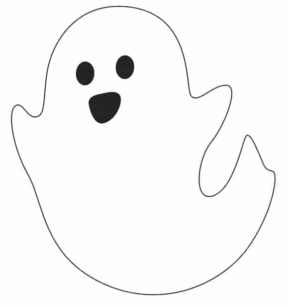 free excited ghost printable