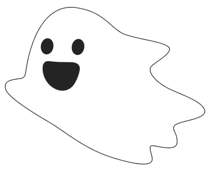 free friendly ghost template printable
