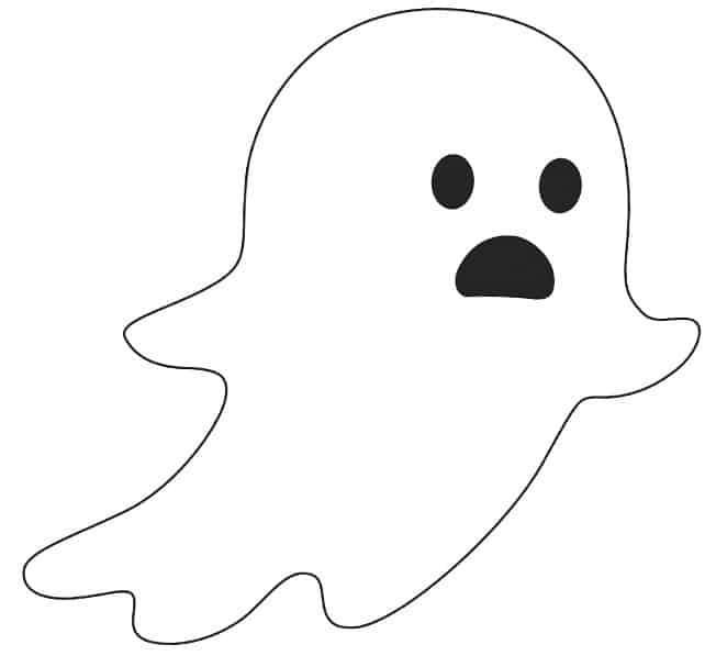 free printable in motion ghost template