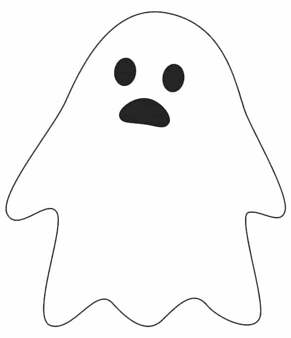 free spooky Halloween ghost printable