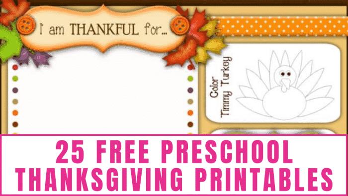 25 Free Preschool Thanksgiving Printables - Freebie Finding Mom