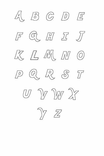 Printable Bubble Letters Fancy Letters Set