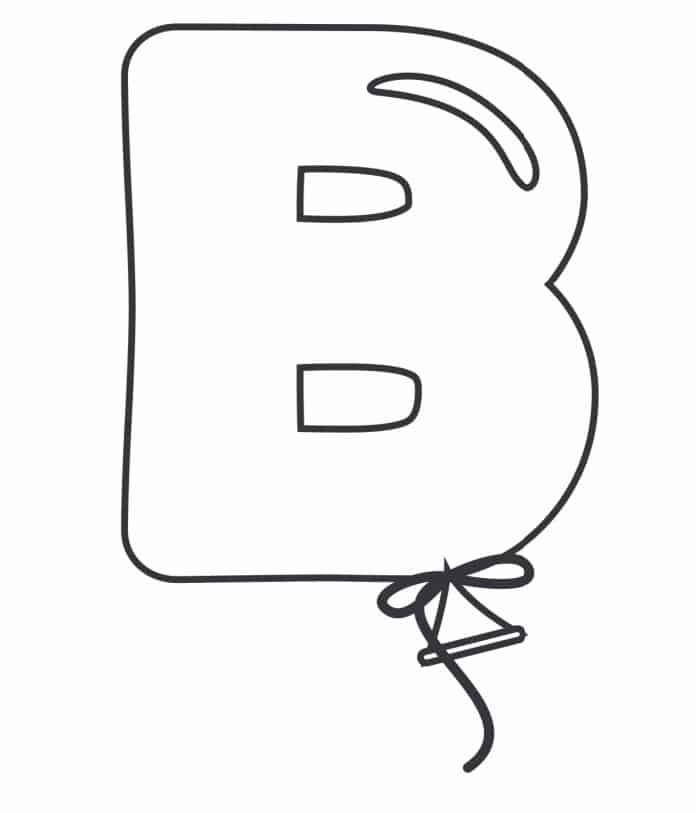 Printable Bubble Letters Balloon Letter B