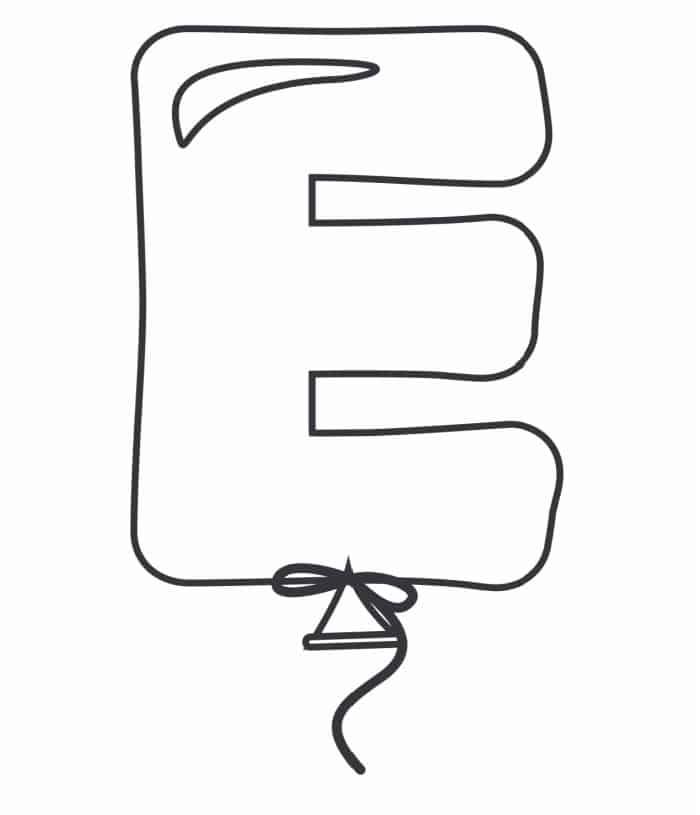 Printable Bubble Letters Balloon Letter E