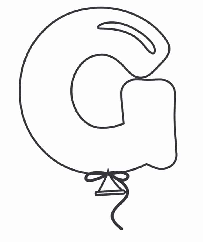 Printable Bubble Letters Balloon Letter G