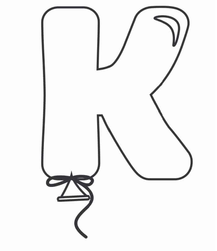 Printable Bubble Letters Balloon Letter K