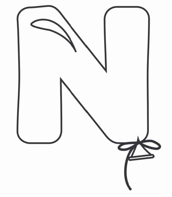 Printable Bubble Letters Balloon Letter N