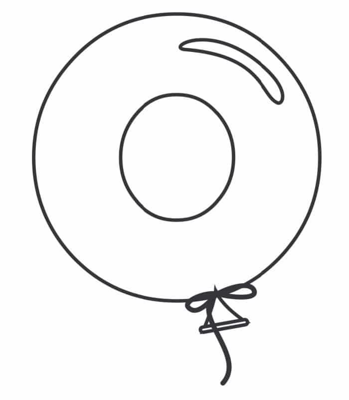 Printable Bubble Letters Balloon Letter O