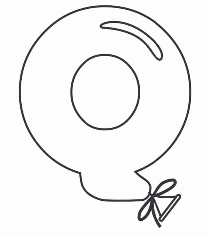 Printable Bubble Letters Balloon Letter Q