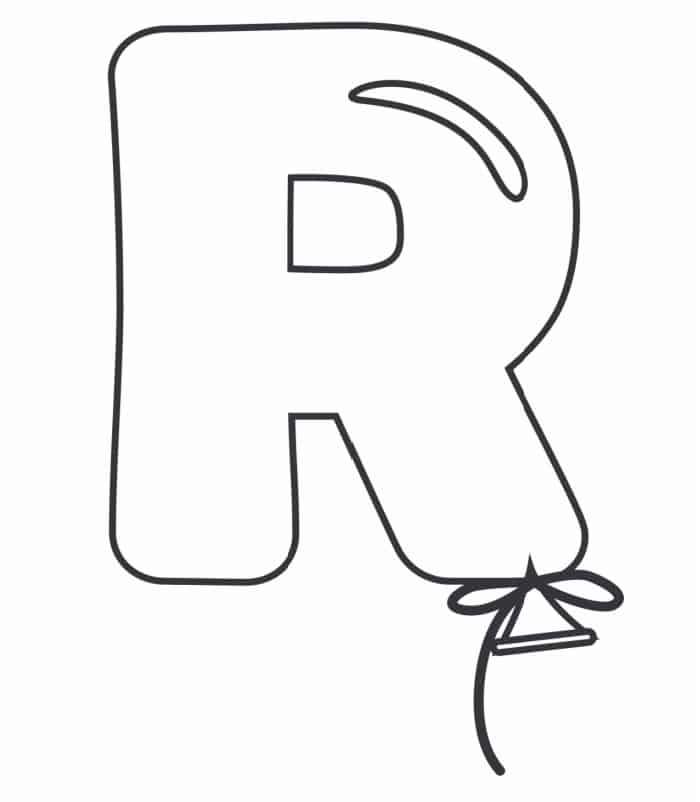 Printable Bubble Letters Balloon Letter R