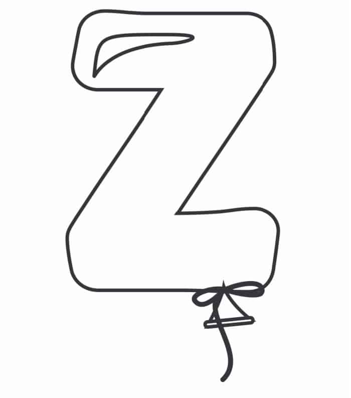 Printable Bubble Letters Balloon Letter Z
