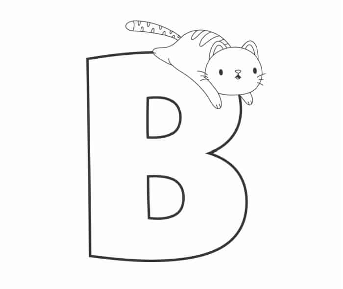 Printable Bubble Letters Cat and Dog Letter B