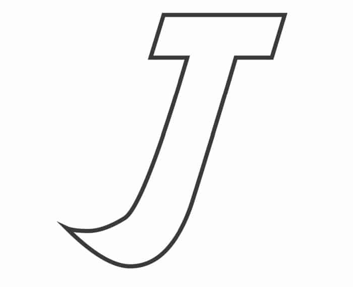 Printable Bubble Letters Fancy Letter  J