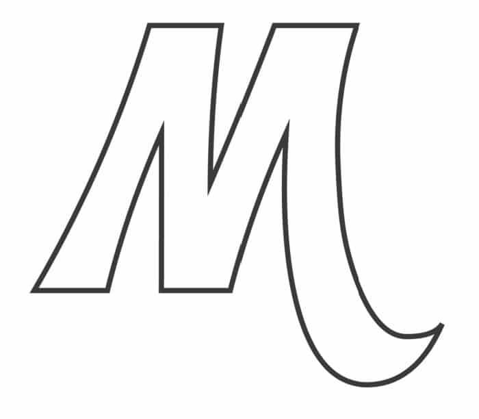 Printable Bubble Letters Fancy Letter  M