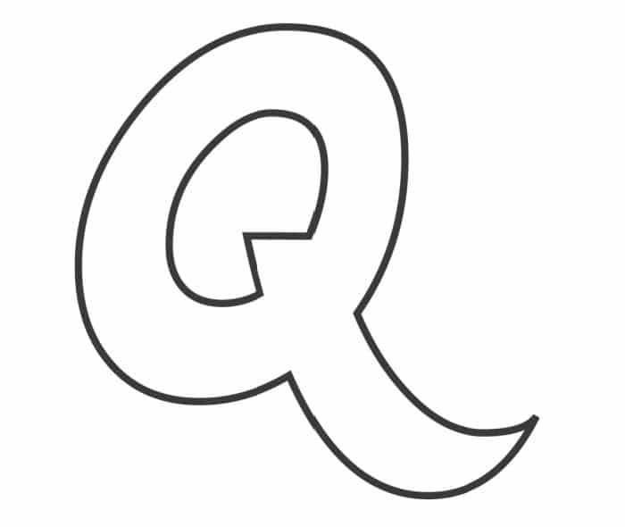 Printable Bubble Letters Fancy Letter  Q