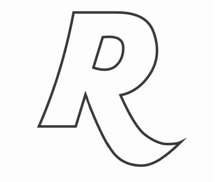 Printable Bubble Letters Fancy Letter  R