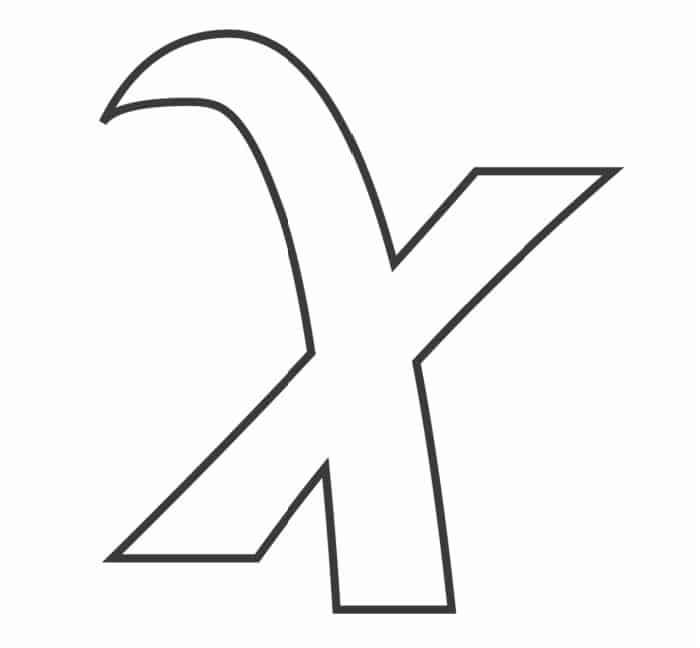 Printable Bubble Letters Fancy Letter  X