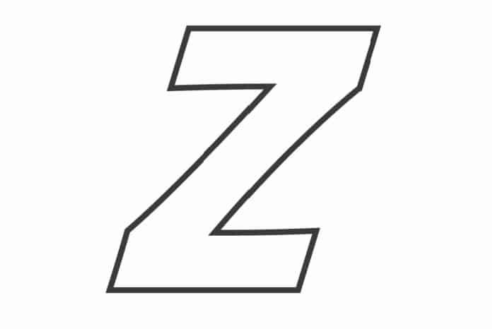 Printable Bubble Letters Fancy Letter  Z