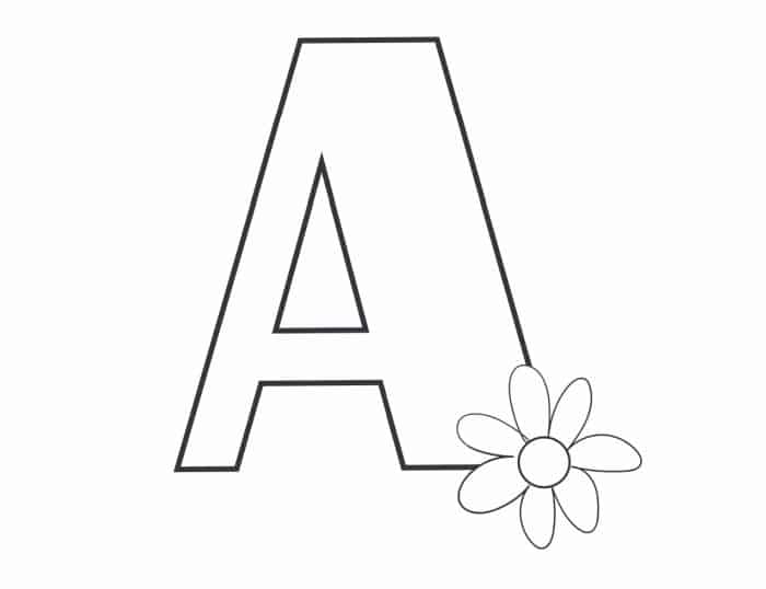 Printable Bubble Letters Flower Letter A