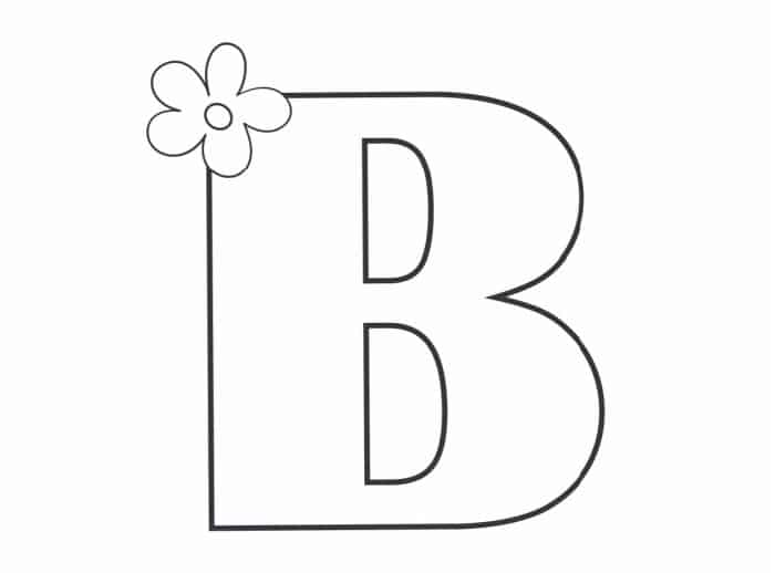 Printable Bubble Letters Flower Letter B