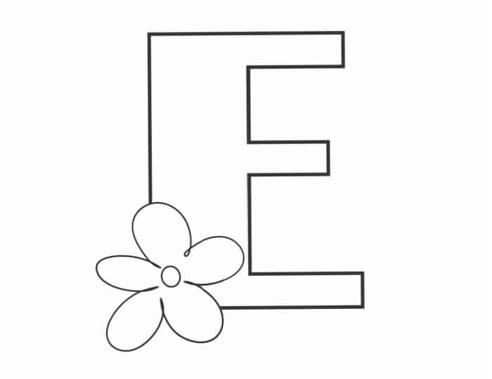Printable Bubble Letters Flower Letter E