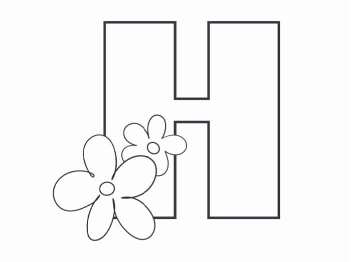 Printable Bubble Letters Flower Letter H