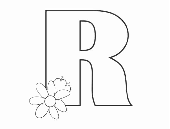 Printable Bubble Letters Flower Letter R