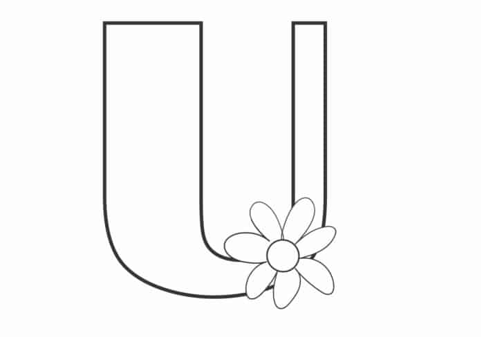 Printable Bubble Letters Flower Letter U