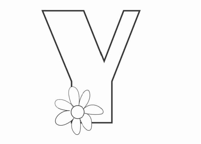 Printable Bubble Letters Flower Letter Y