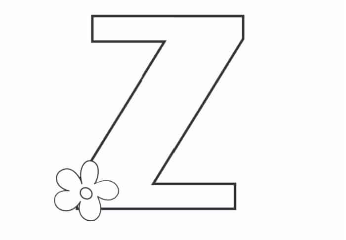 Printable Bubble Letters Flower Letter Z