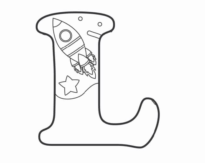 Printable Bubble Letters Outer Space Letter L