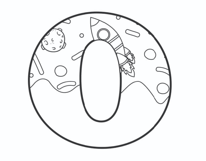 Printable Bubble Letters Outer Space Letter O