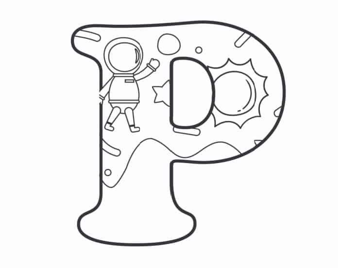Printable Bubble Letters Outer Space Letter P