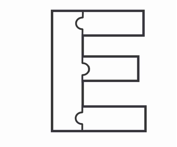Printable Bubble Letters Puzzle Letter E