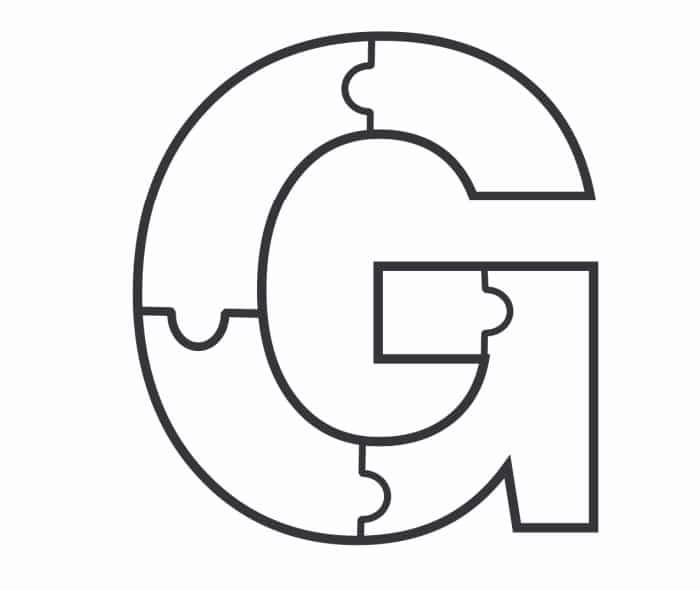 Printable Bubble Letters Puzzle Letter G