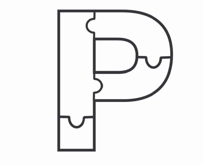 Printable Bubble Letters Puzzle Letter P
