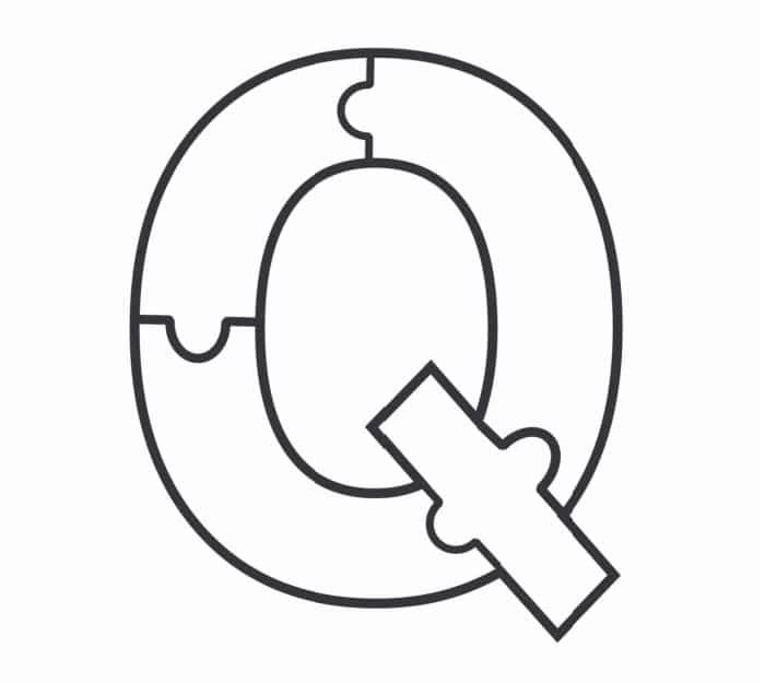 Printable Bubble Letters Puzzle Letter Q