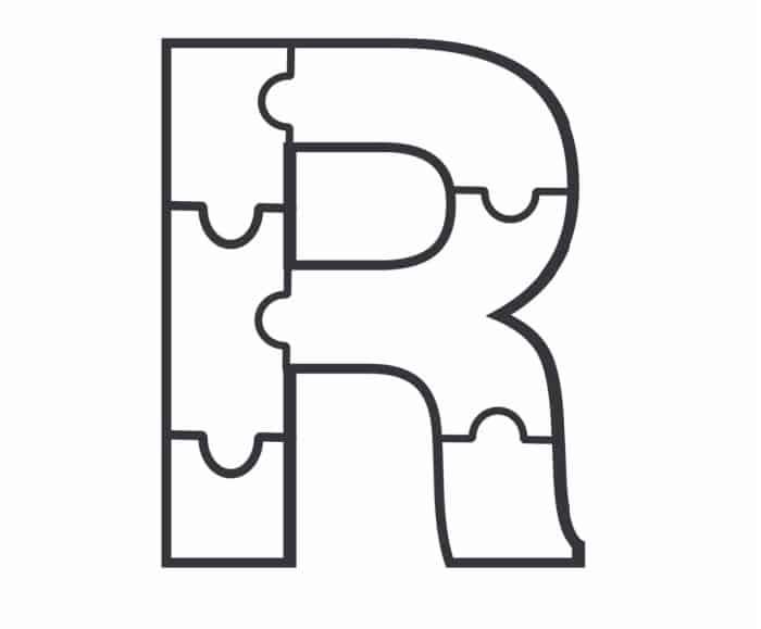Printable Bubble Letters Puzzle Letter R