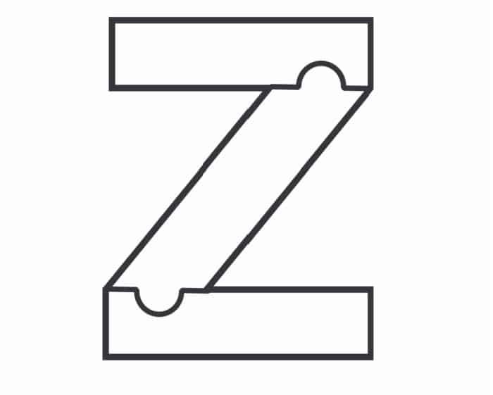 Printable Bubble Letters Puzzle Letter Z